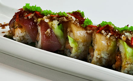Classic rolled sushi
